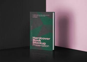 PSD Book Free Mockup Hardcover