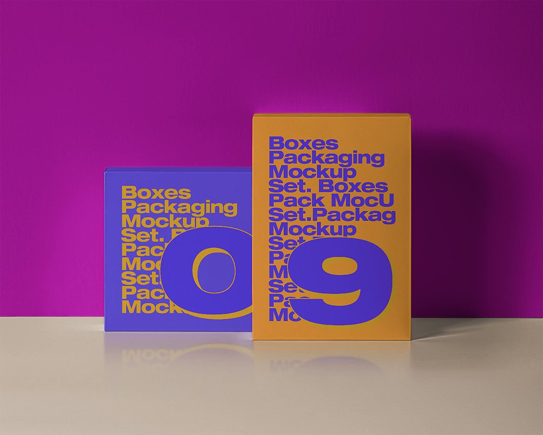 PSD Product Box Packaging Free Mockup