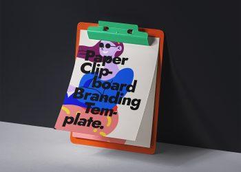 Paper PSD Clipboard Free Mockup