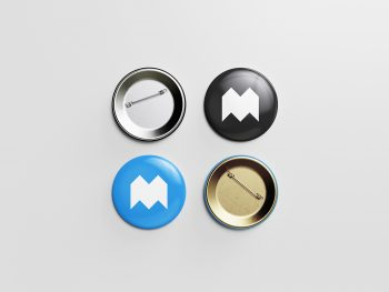 Pin Button Free Mockup
