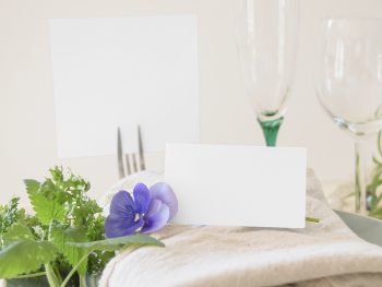 Place Card & Table Number PSD Free Mock-Up