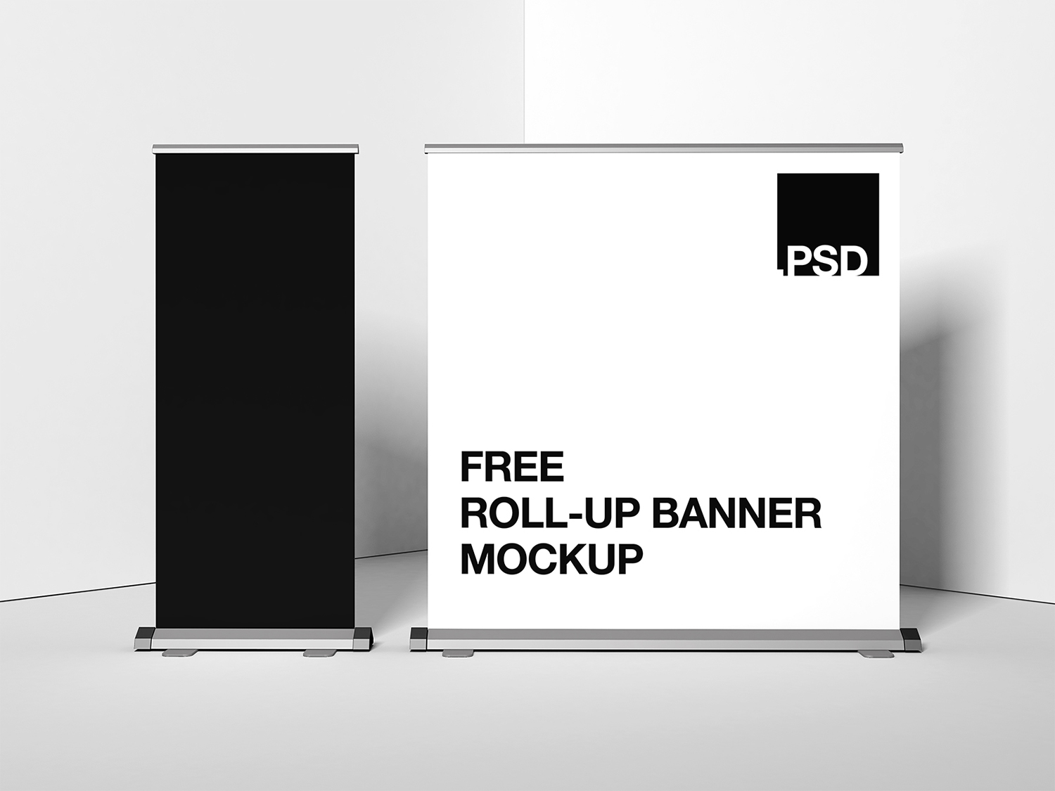 Roll-Up Stand Banner Free Mockup