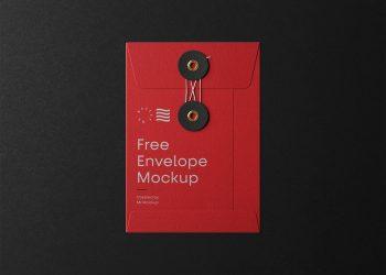 Small String Envelope Free Mockup