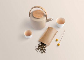 Tea Branding Packaging Free Mockup
