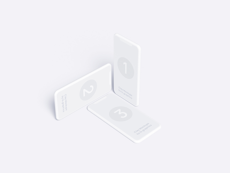 Three iPhone Clay Free Mockups