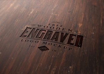 Wood Engraved Logo Free Mockup
