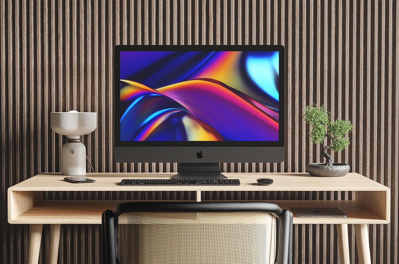 iMac Pro Free Mockup Workspace