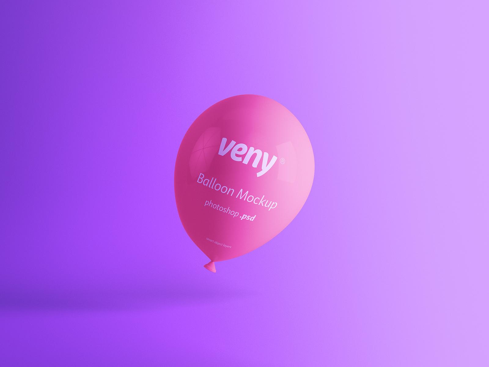 Balloon PSD Free Mockup