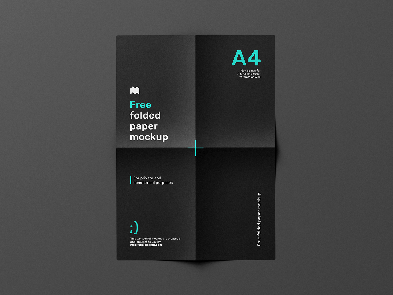 Folded Paper Free Mockup