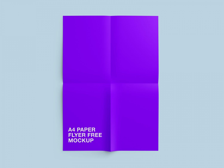 Free A4 Paper Flyer Mockup