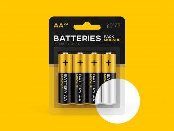 Free AA Battery Branding Mockup
