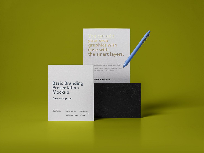 Free Basic Stationery Branding Mockups