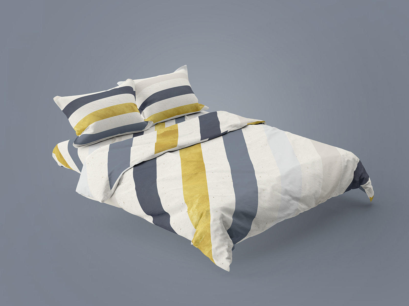 Free Bedding Home Textile Design Mockup