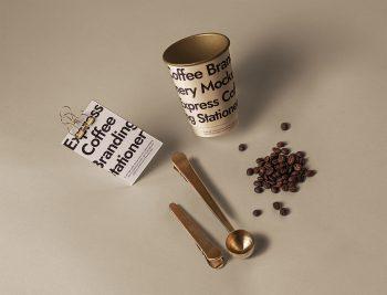 Free Branding Coffee Set Mockup