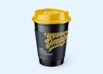 Free Coffee Cup with Holder Mockups