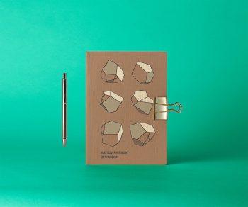 Free Cover Kraft Notebook Mockup
