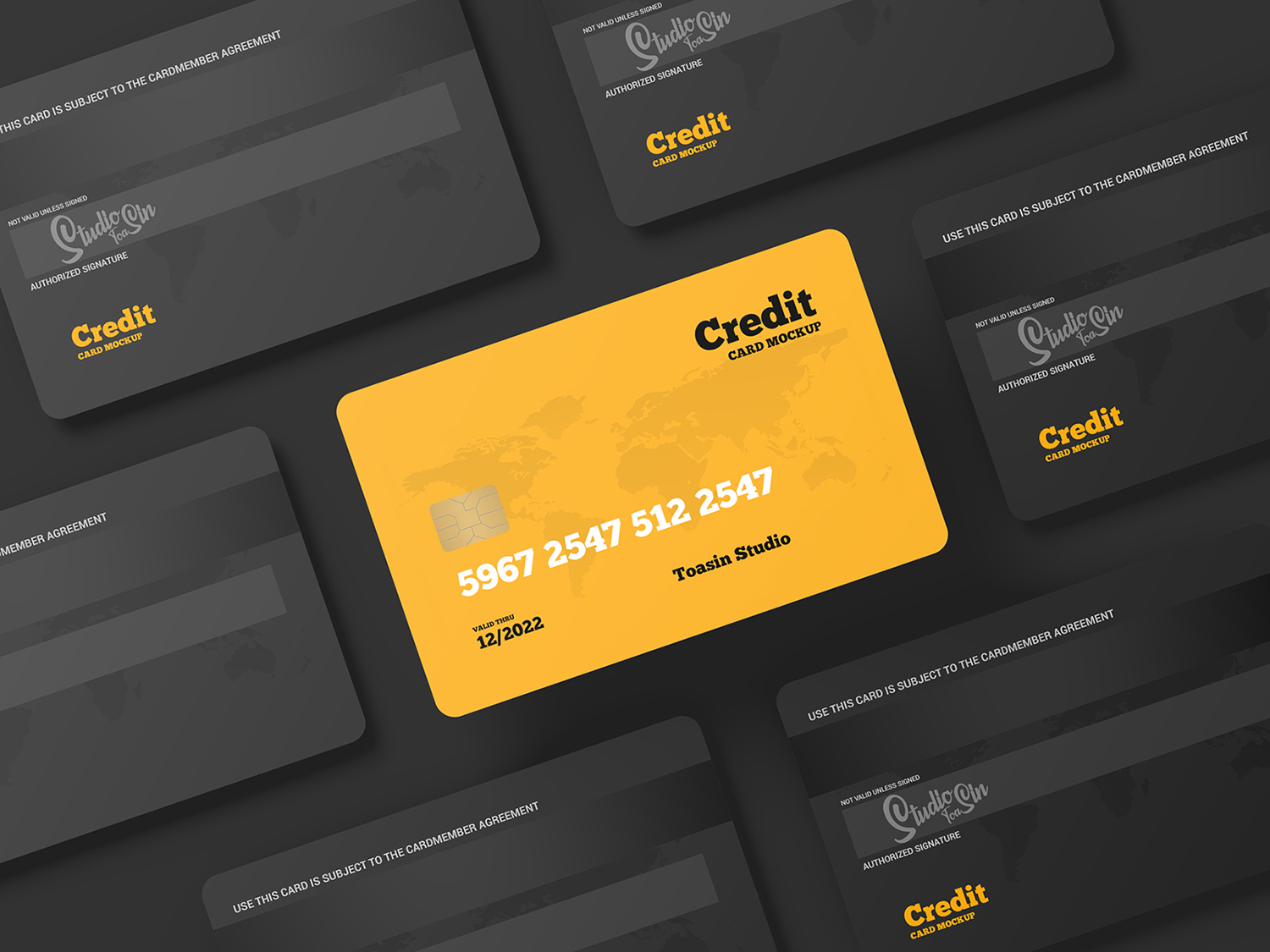 Free Credit Cards/Gift Cards Mockup