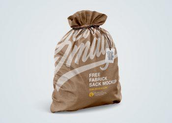 Free Fabric Sack Mockup