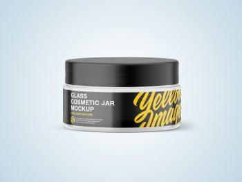 Free Glass Cosmetic Jar Mockup
