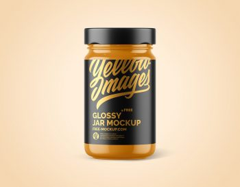 Free Glossy Jar Package Mockup