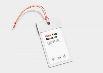 Free Label Tag Mockup