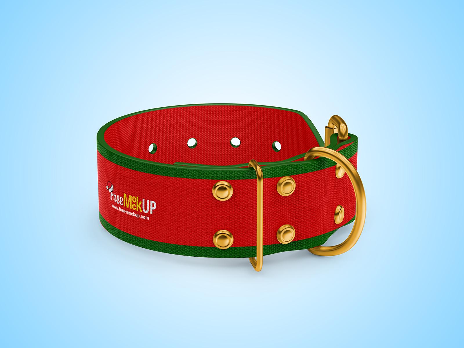 Free Linen Dog Collar Mockup
