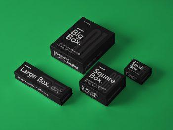 Free Magnetic Box Packaging Mockups
