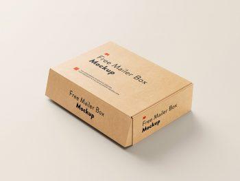 Free Mailer Box Mockup Set