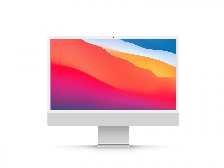 Free New iMac 24 Inch Display Mockup