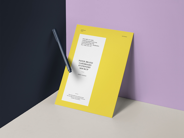 Free PSD Paper Brand Mockup