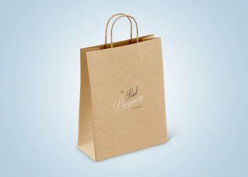 Free Paper Bag Mockup Set