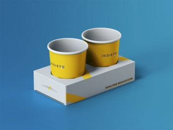 Free Paper Cup Holder Mockup