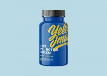 Free Plastic Pill Bottle Mockup