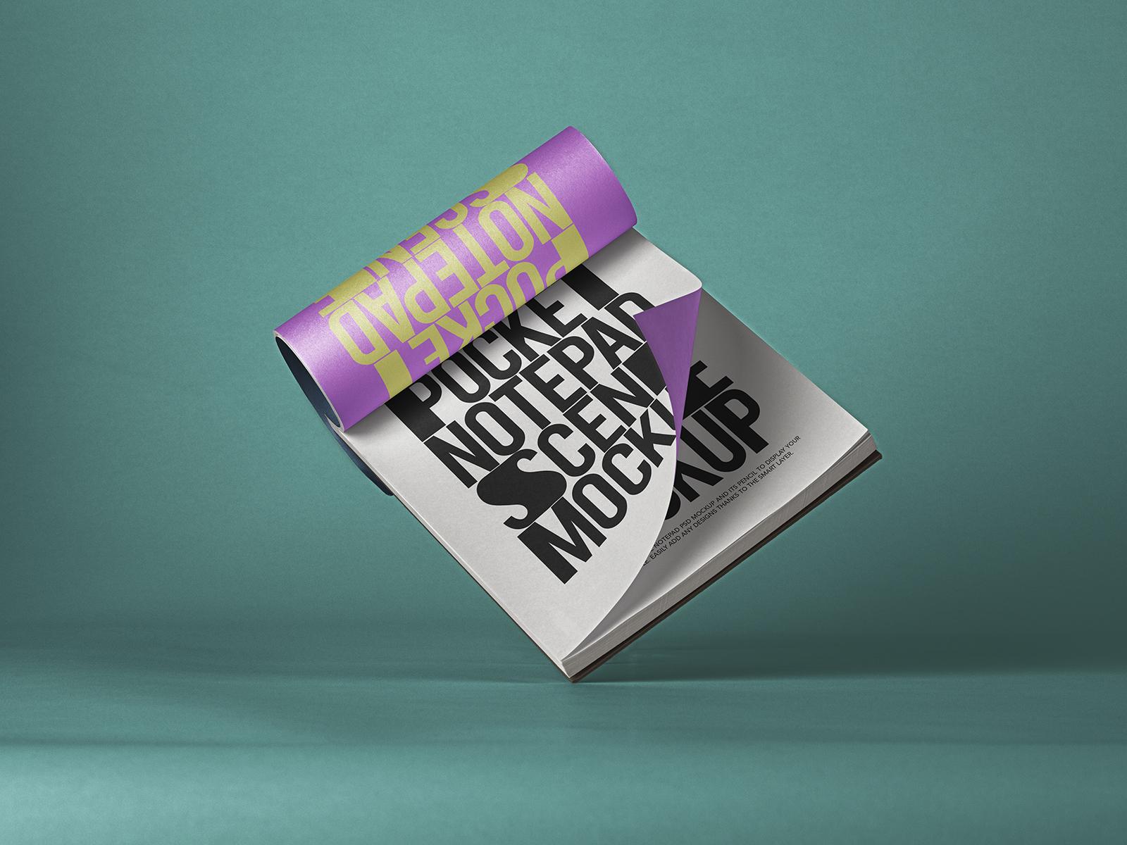 Free Pocket Notepad Mockup PSD