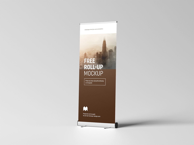 Free Roll-Up Mockup 85×200 cm