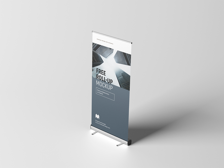 Free Roll-Up PSD Mockup