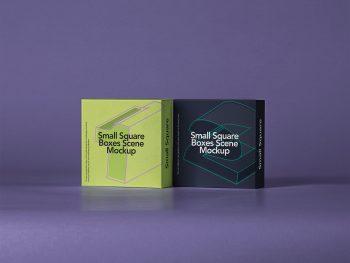 Free Small Square Box Mockup Set