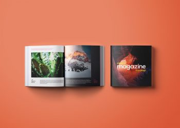 FreeFree Square Magazine Mockups