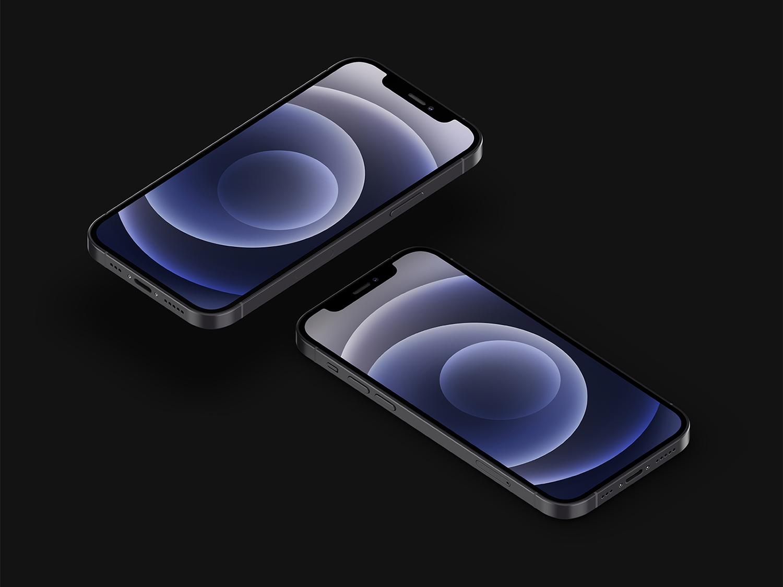 Free iPhone 12 Mockup Set