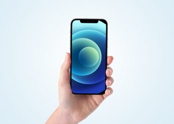 Free iPhone 12 Pro in Hand Mockup