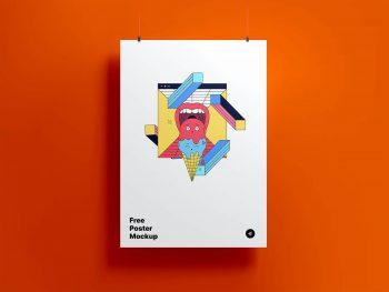 Hanging Poster Free Mockup