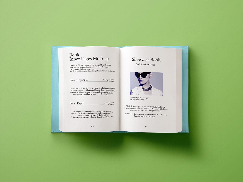 Hardback Book Inner Free Mockup