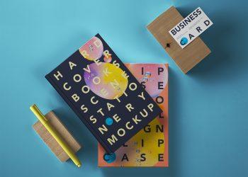 Hardcover Book PSD Free Mockup Scene