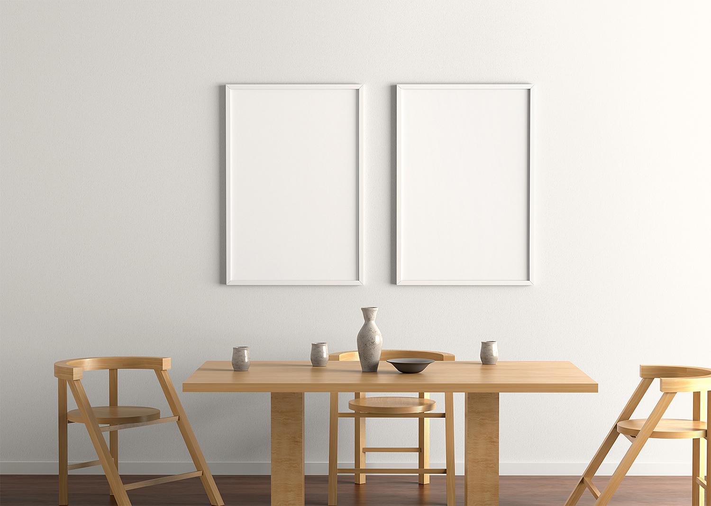 Indoor Poster Frame Free Mockup