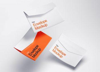 Levitating Envelope Free Mockups