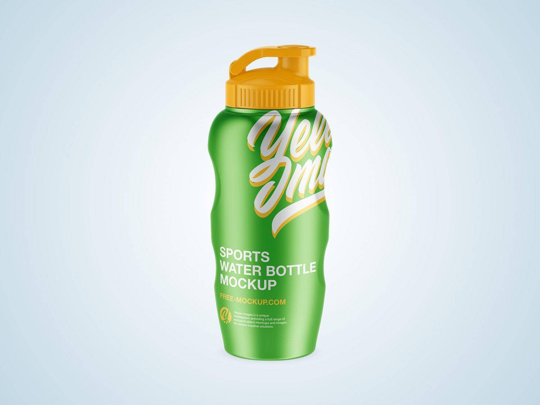 Metal / Sports Water Bottle Free Mockup