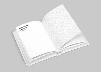 Open Book Free Mockup