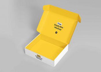 Open Empty Box Free Mockup