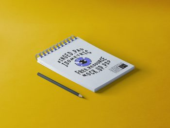 Ringed Notepad Free Mockup PSD