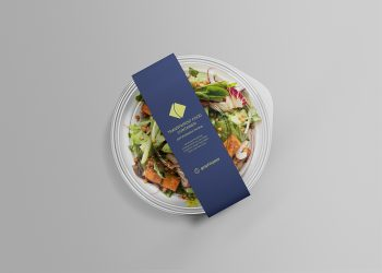 Salad Container Packaging Free Mockup